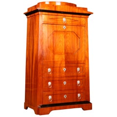 Secretaire Writing Cabinet in Biedermeier Style Mahogany