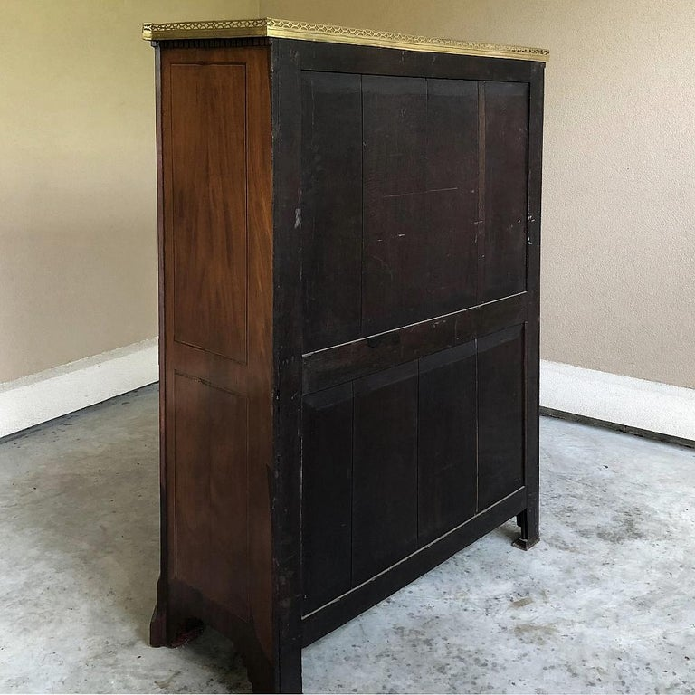 Secretary, 19th Century French Louis XVI with Inlaid Mahogany For Sale 8