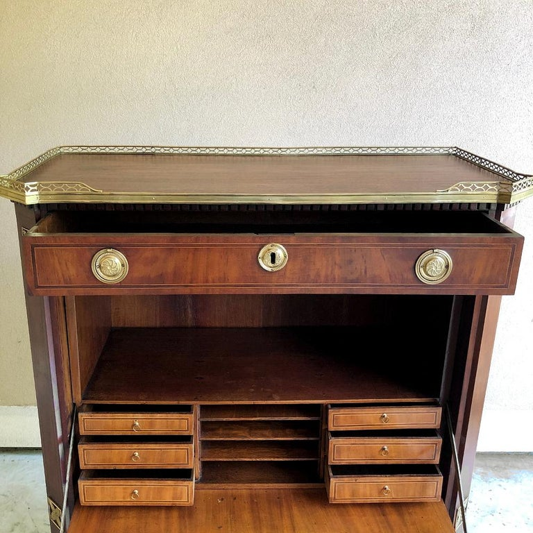 Secretary, 19th Century French Louis XVI with Inlaid Mahogany For Sale 2