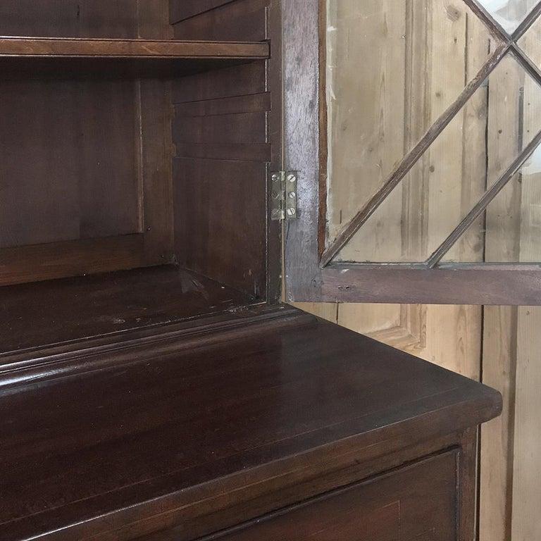 Secretary, Bookcase, 19th Century Antique English in Mahogany For Sale 4