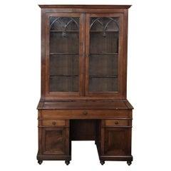 Secretary, Bookcase, 19th Century English in Mahogany