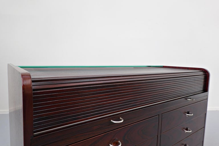 Italian Mid-Century Modern Secretary Desk by Gianfranco Frattini for Bernini, 1960s For Sale