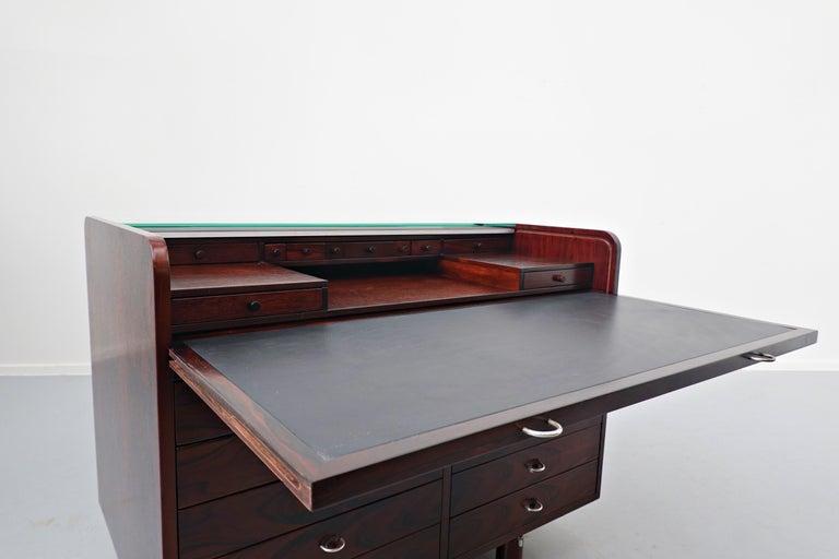 Mid-20th Century Mid-Century Modern Secretary Desk by Gianfranco Frattini for Bernini, 1960s For Sale
