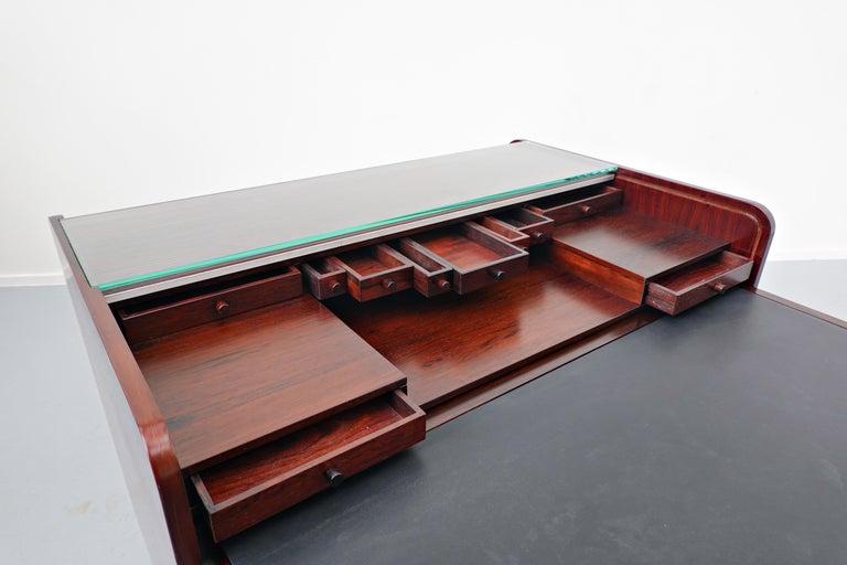 Mid-Century Modern Secretary Desk by Gianfranco Frattini for Bernini, 1960s For Sale 1