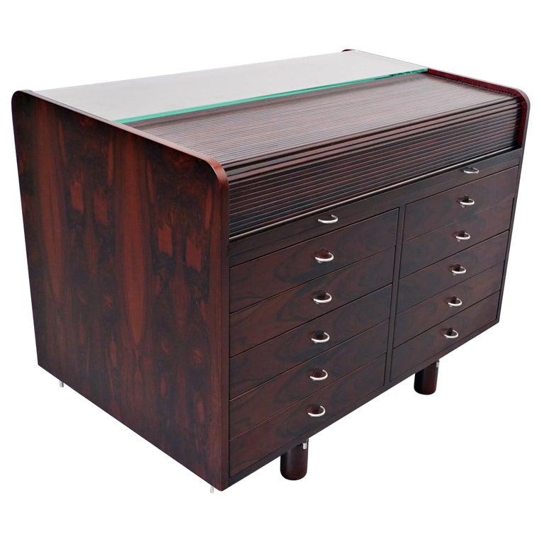 Mid-Century Modern Secretary Desk by Gianfranco Frattini for Bernini, 1960s For Sale