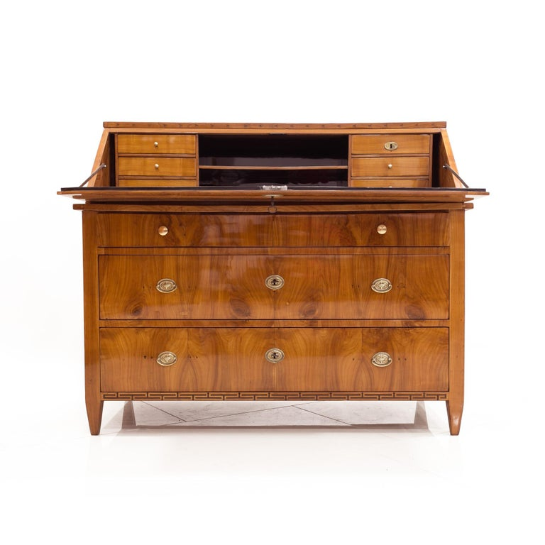 Veneer Secretary Desk, Germany, 19th Century For Sale
