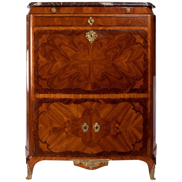 Secretary of Louis XV, Stamped by Jean Baptiste Saunier, 18th Century For Sale