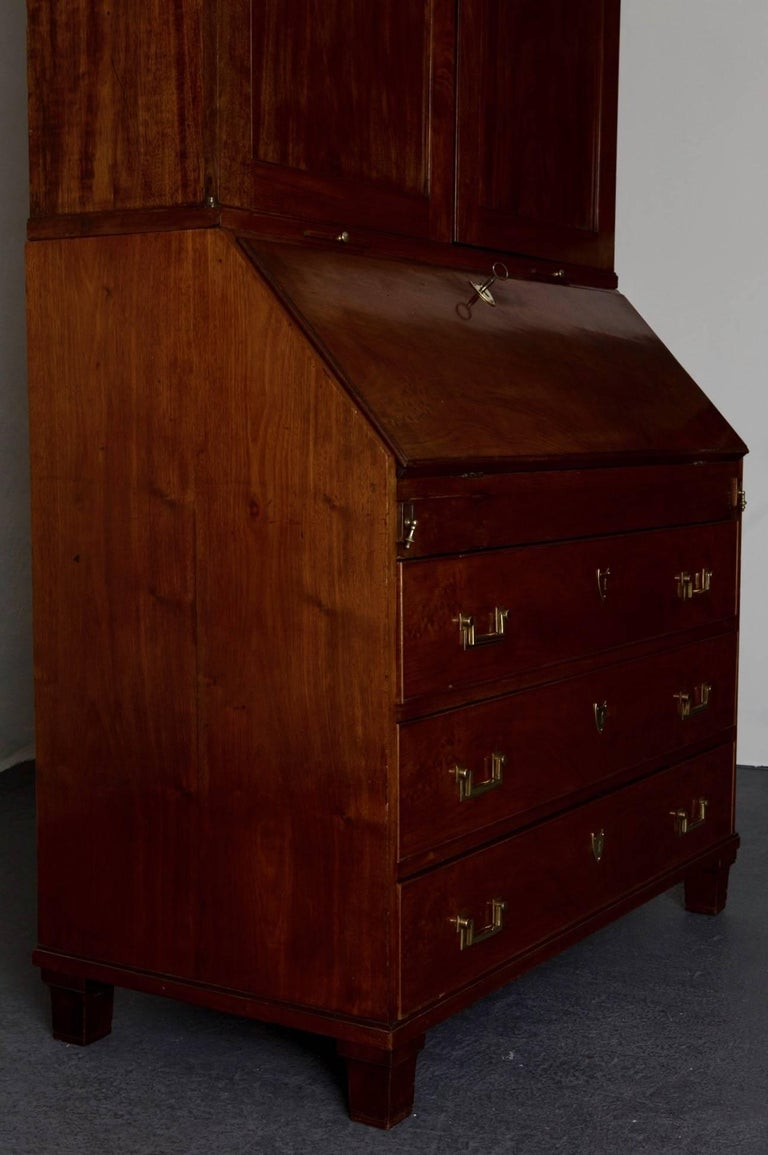 Secretary Swedish Gustavian Neoclassical Mahogany, 18th Century, Sweden For Sale 5