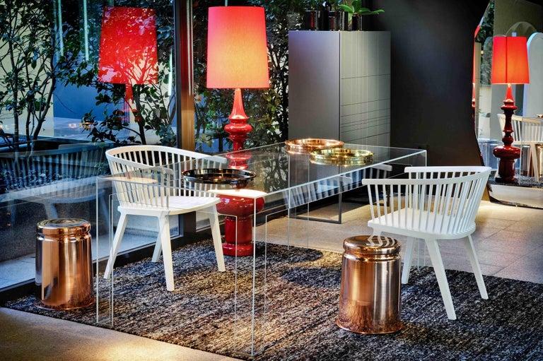 Secreto Armchair in Beechwood, Purple Velvet Cushion, Made in Italy For Sale 7
