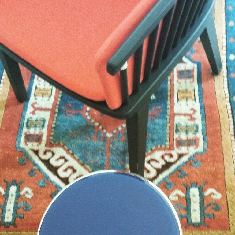 Secreto Armchair in Beechwood, Purple Velvet Cushion, Made in Italy For Sale 10
