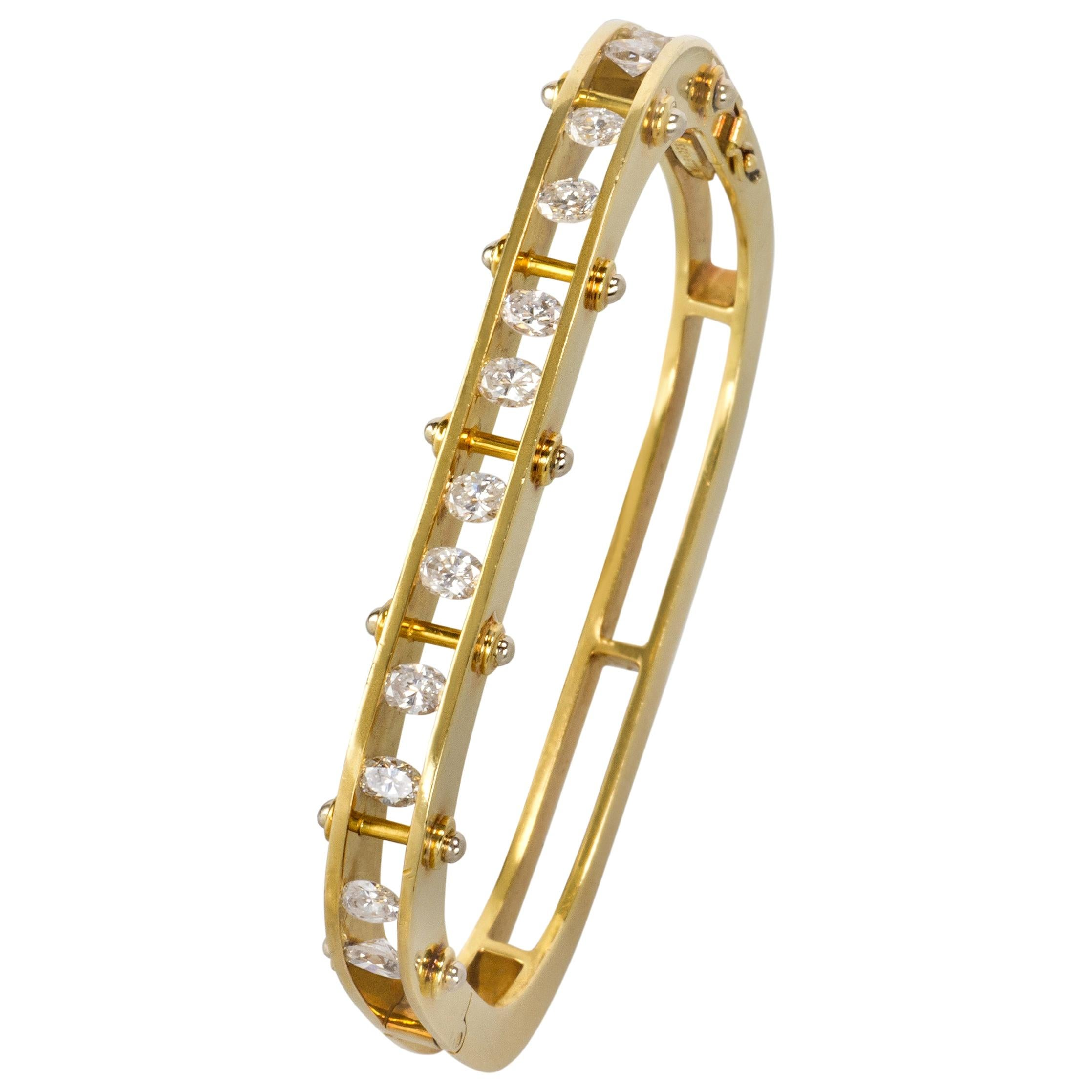 Secrett Diamond and Gold Bangle