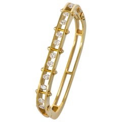 Secrett Diamond and Gold Bangle
