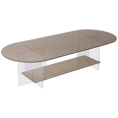 Section Coffee Table, Bronze Glass / Clear Acrylic