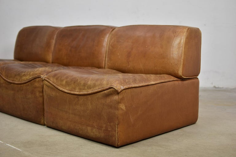 Mid-Century Modern Sectional 'DS15' Sofa Designed by De Sede, Switzerland, 1970s For Sale