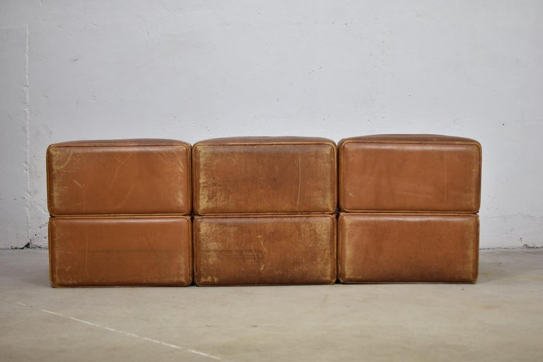 Sectional 'DS15' Sofa Designed by De Sede, Switzerland, 1970s For Sale 1