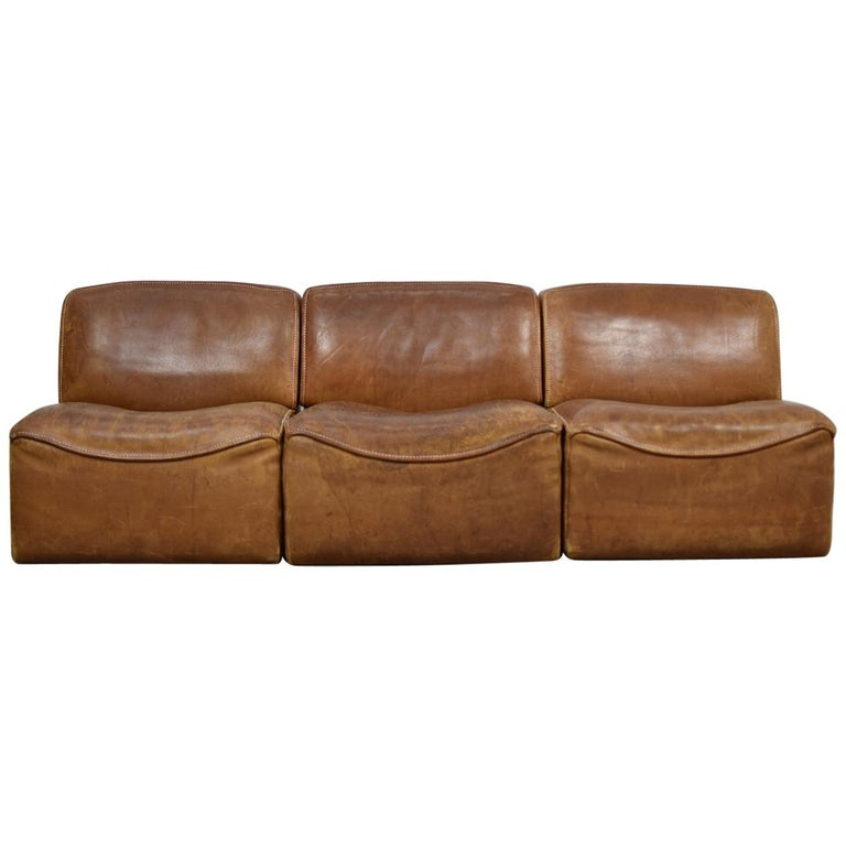 Sectional 'DS15' Sofa Designed by De Sede, Switzerland, 1970s For Sale