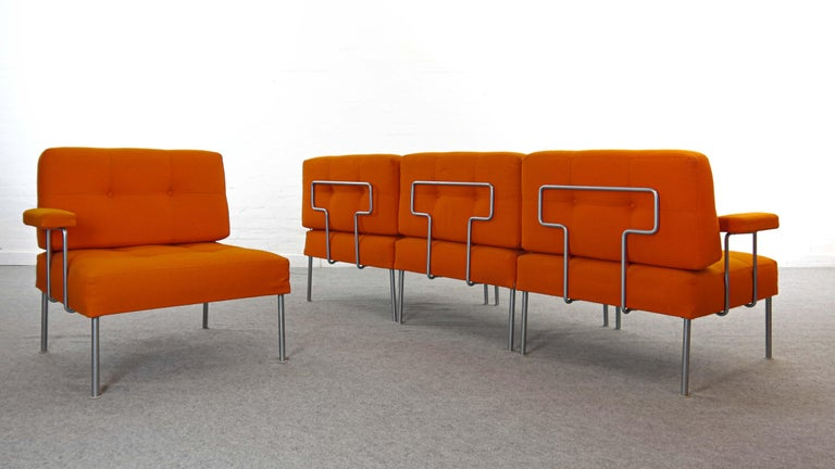 Steel Sectional Revolt Sofa by Poul Cadovius for France & Son, Denmark For Sale