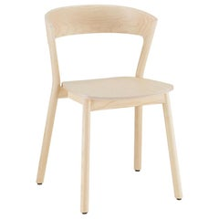 Edith chair in solid ash varnish and wood  seat by Massimo Broglio