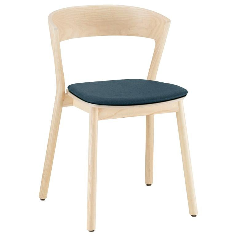 Edith chair in solid ash varnish and pad seat by Massimo Broglio For Sale