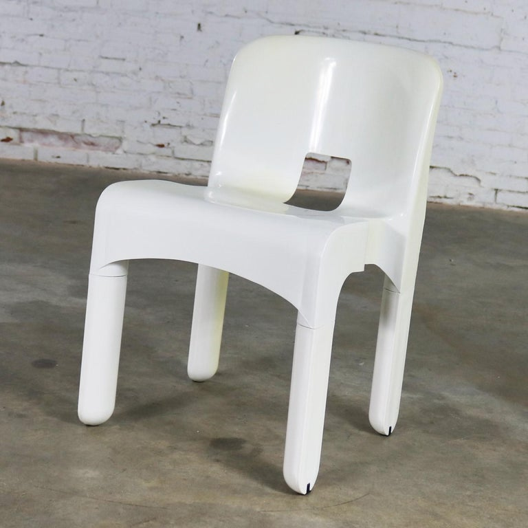 American Sedia Universale 4867 Plastic Chair by Joe Columbo for Kartell in White For Sale