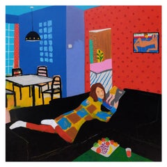 'Seduced by Reduced Shoes' Portrait Painting by Alan Fears Pop Art
