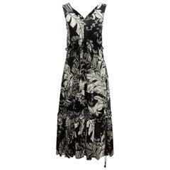 See by Chloe Black & White Floral Print Sleeveless Dress