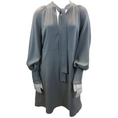 See By Chloe Grey Dress with Neck Tie