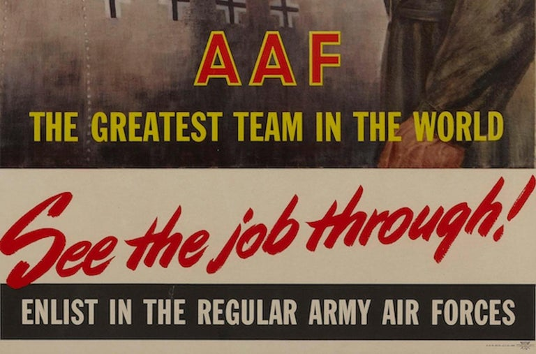 American Army Air Forces Poster,