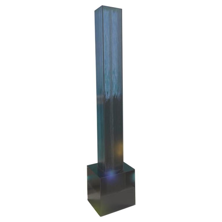 See Water, Smoke, Acrylic Table Top Fountain, Small For Sale