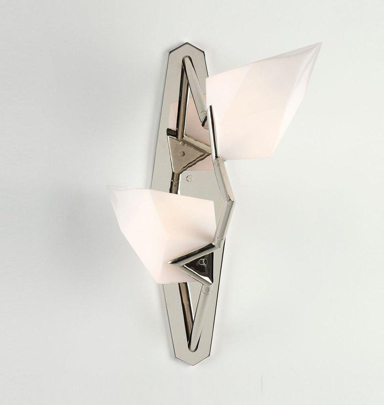 Modern Seed Sconce in Polished Nickel by Bec Brittain for Roll & Hill For Sale