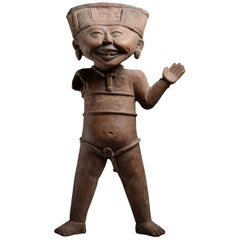 Seeger Collection Ancient Pre-Columbian Pottery Laughing Veracruz Figure, 550 AD