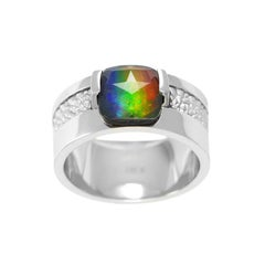 Seely Lines of Symmetry 14K White Gold AA Grade Ring