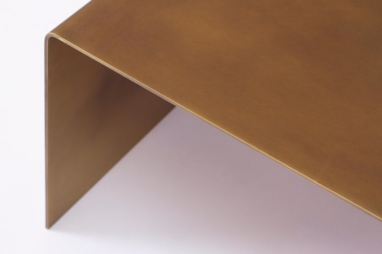 Modern SEGMENT Coffee Table in Burnished Brass by Estudio Persona For Sale