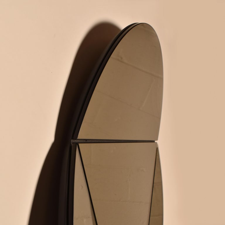 Modern Segment Mirror, Modular Wall Mirror in Bronze, Custom Colors and Configurations For Sale