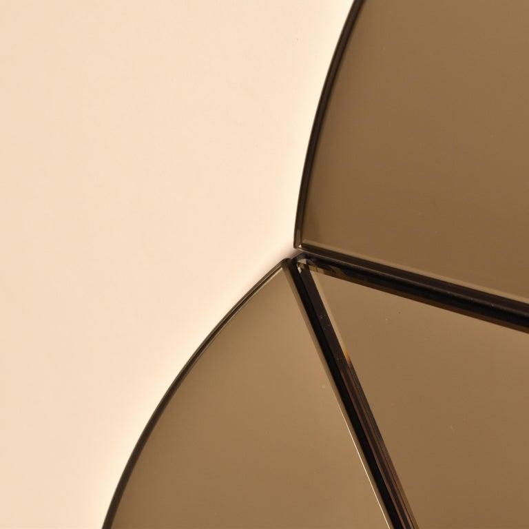 North American Segment Mirror, Modular Wall Mirror in Bronze, Custom Colors and Configurations For Sale