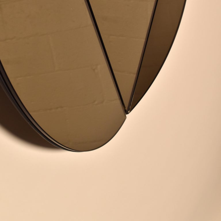 Painted Segment Mirror, Modular Wall Mirror in Bronze, Custom Colors and Configurations For Sale