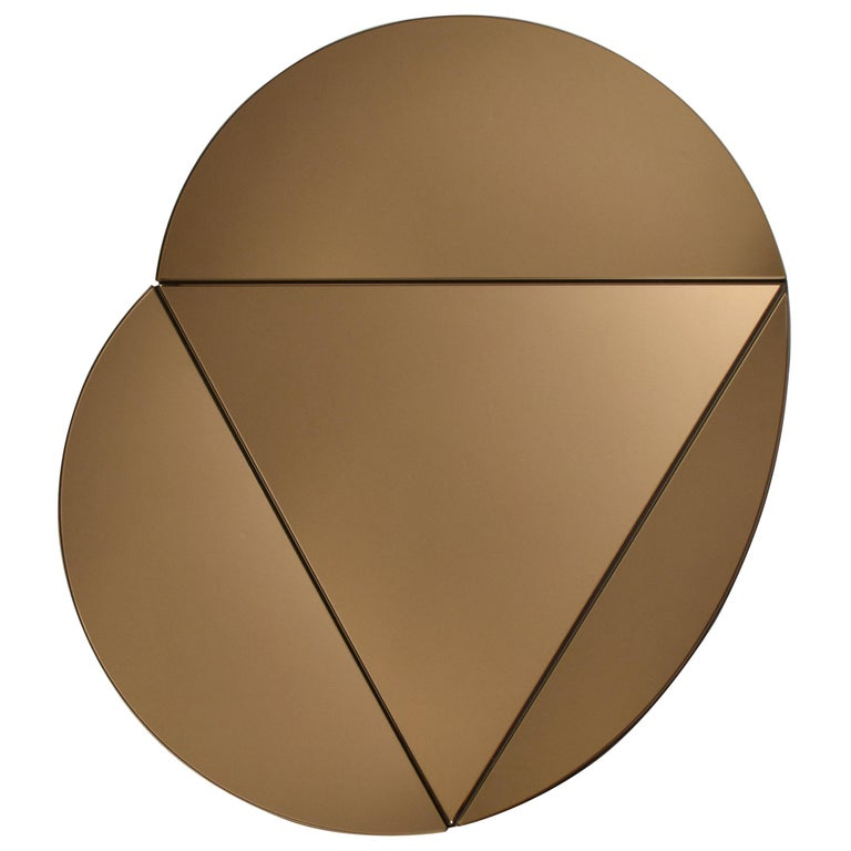 Segment Mirror, Modular Wall Mirror in Bronze, Custom Colors and Configurations For Sale