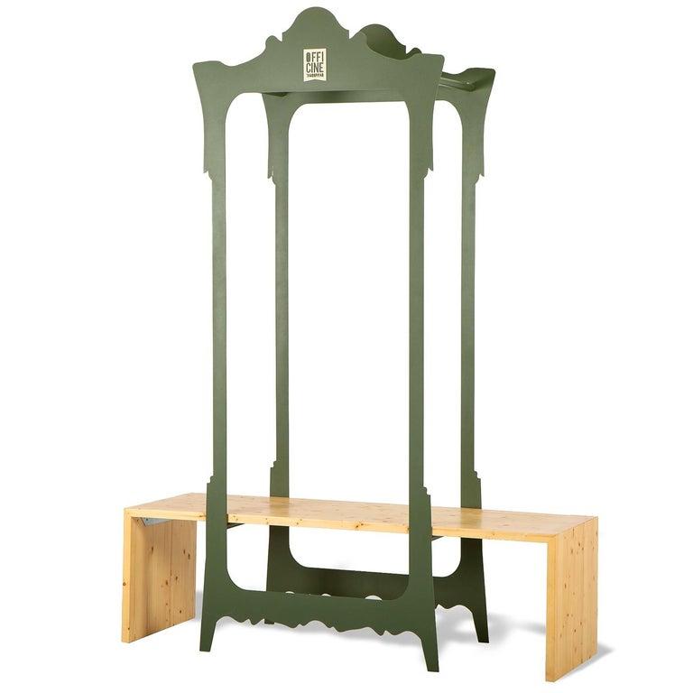 Italian Segno Wardrobe with Bench #1 by Flore & Venezia For Sale