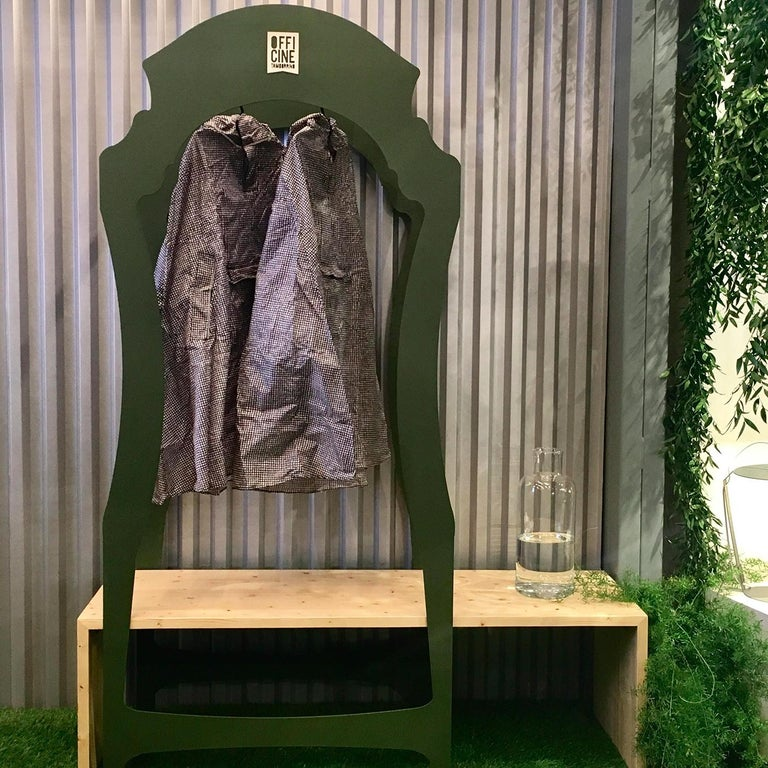 Segno Wardrobe with Bench #1 by Flore & Venezia In New Condition For Sale In Milan, IT