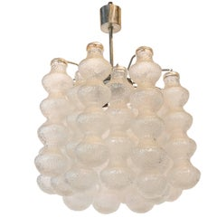 Seguso 1970s Bubble Murano Glass Chandelier
