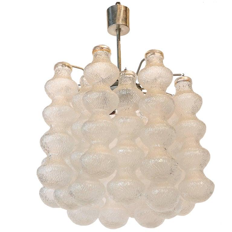 Seguso 1970s Bubble Murano Glass Chandelier