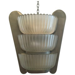 Seguso Applique 1930 Glass Metal Crome, Italy
