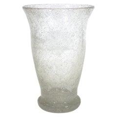 Seguso Attributed Italian Pulegoso Glass Vase