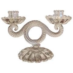 Seguso Candleholder Murano Glass 1930 Italy