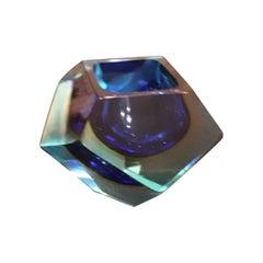 Seguso Flavio Poli Ashtray/Ciottola Murano Glass, 1950, Italy