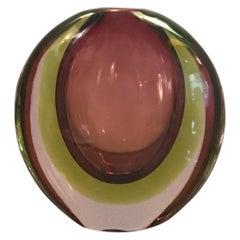 Seguso Flavio Poli Vase Murano Glass, 1955, Italy