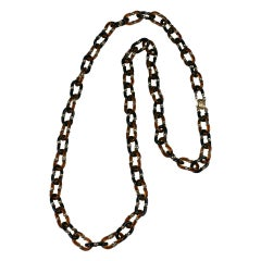 Seguso for Chanel Glass Link Chain