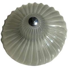 Seguso Lantern Murano Glass Metal Crome, 1960, Italy