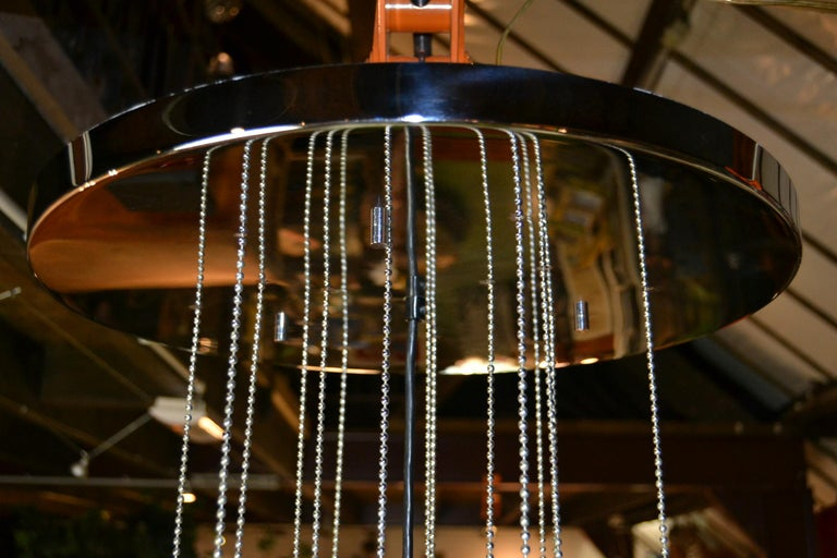 Seguso Murano Bubble Chandelier with Chains, Italy, Mid-20th Century For Sale 7