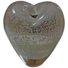 Seguso Murano Heart Shaped Vase/Sculpture